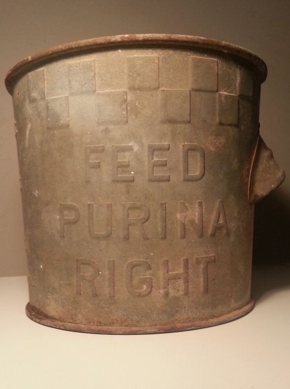 31 best images about purina stuff on pinterest tote for Old metal buckets