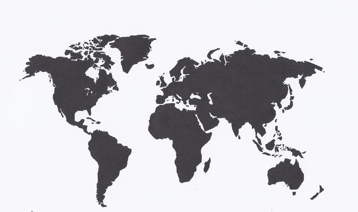 World Map Decal $15.00  Available on www.paintitblackcustoms.com