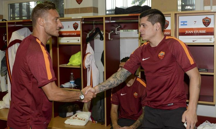 Totti welcoming new signing Iturbe to the family.