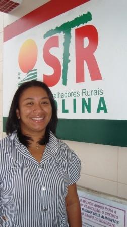 MARIA JOELMA DA SILVA - Secretária de Assalariados do Sindicato dos Trabalhadores Rurais de Petrolina. Ao longo de 48 anos de existência do STR de Petrolina destaca-se o trabalho de organização de mulheres e jovens rurais. Na diretoria, composta de 21 pessoas, 50% são mulheres.