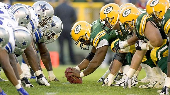 Catch the Cowboys VS Packers on the big screen this Sunday at noon! Who do you think will win?