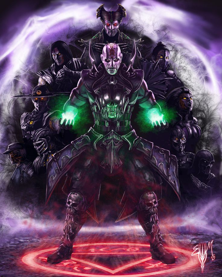 The Quan Chi Mortal Kombat X / Legacy Artwork by Esau Murga |