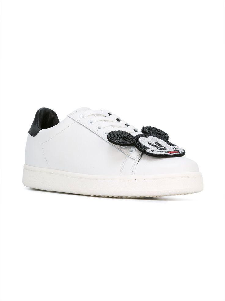 Weiße Sneaker mit Minnie Maus