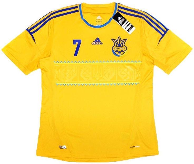 2011-13 Ukraine Home Shirt Shevchenko #7 *w/Tags* - New Shirts - Clearance - Classic Retro Vintage Football Shirts