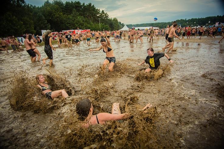 18th Woodstock Festival Poland - the mud bath