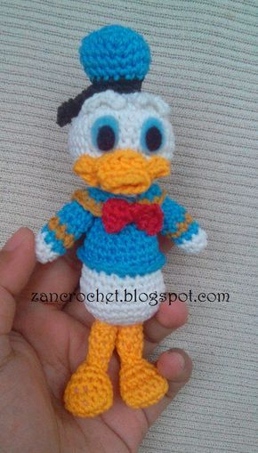 Free amigurumi Donald Duck - Amigurumi Donald is one of my favorites, but it's so hard to find free pattern for this character. So, that's w...