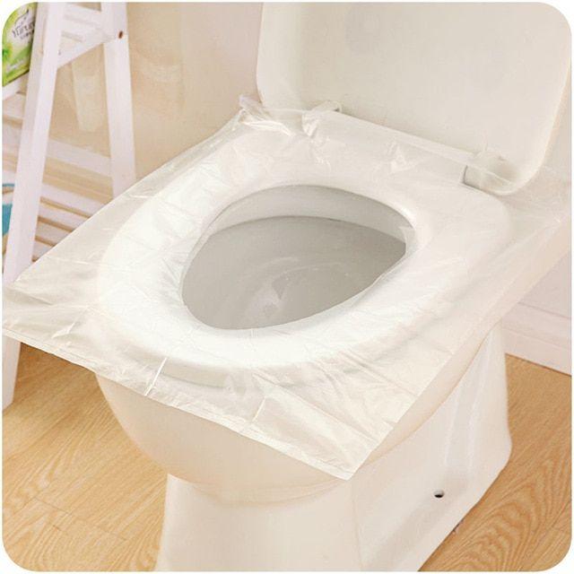 6pcs Pack Disposable Toilet Seat Cover Mat Waterproof Toilet Paper