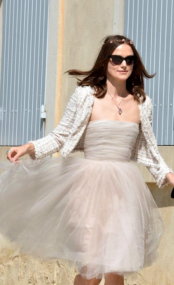 Keira Knightley's wedding dress. So beautiful yet simple, bo-ho, and casual