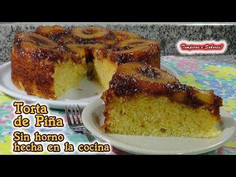 TORTA DE PIÑA SIN HORNO hecha en la cocina, deliciosa, perfecta y muy fácil - YouTube