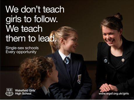 Wakefield Girls High School advert we created