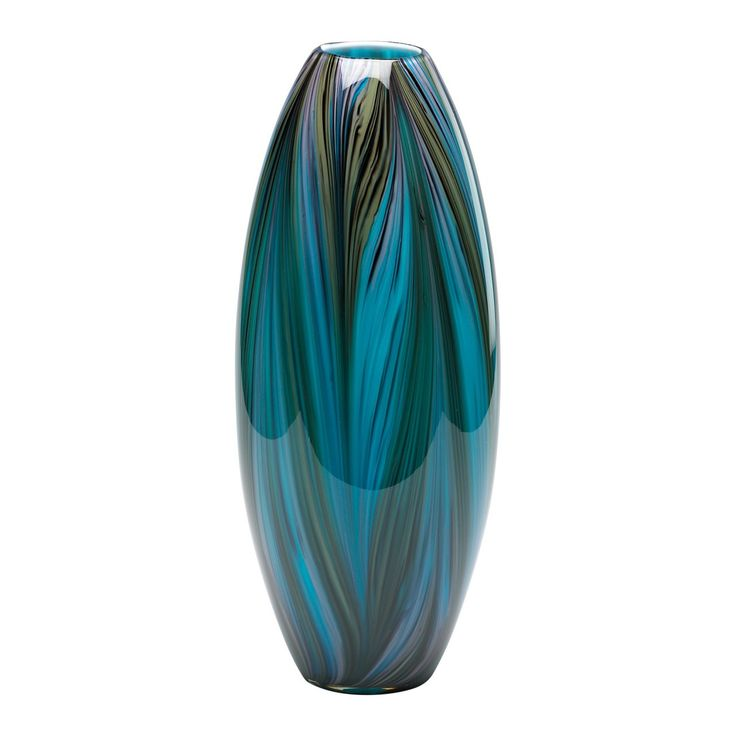 Home Decor Unique Home Decor Multicolor Blue Peacock Feather Vase 152 50