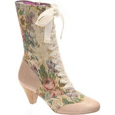 Poetic Licence Lady Victoria (Women's) - Bone Fabric/Leather
