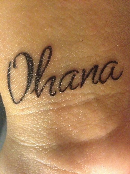Ohana means family. Family means nobody gets left behind. -Lilo and Stitch<3