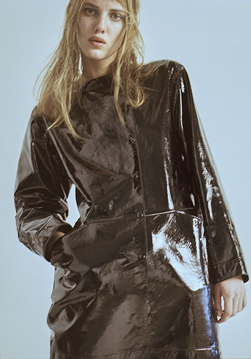 lukasschwering:  Black patent leather coat by Loewe
