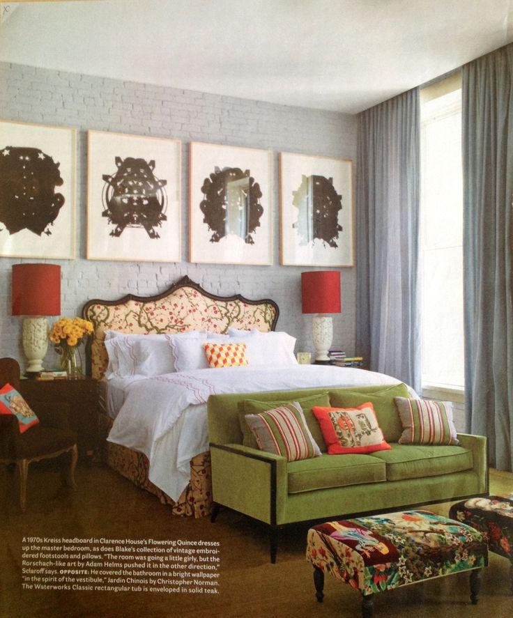 Color!!  #bedroom #eclectic