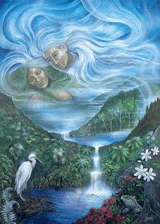 Earth Mother Sky Father, Maori mythic figures: Rangi and Papa
