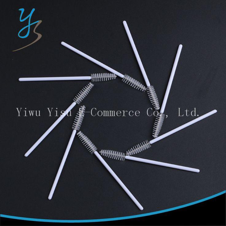 Wholesale 500pcs/lot Cosmetic Eyelash Brushes Disposable Mascara Applicator Wand Brush Nylon Makeup Tool Lash Brushes