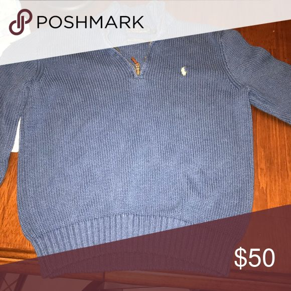Polo pullover Medium polo pullover, blue, very comfy and REALLY good condition Polo by Ralph Lauren Sweaters