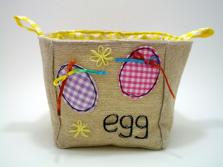 Egg Storage Basket. Gorgeous gingham lined basket. Great Easter packaging or gift idea.. £10,00, via Etsy.