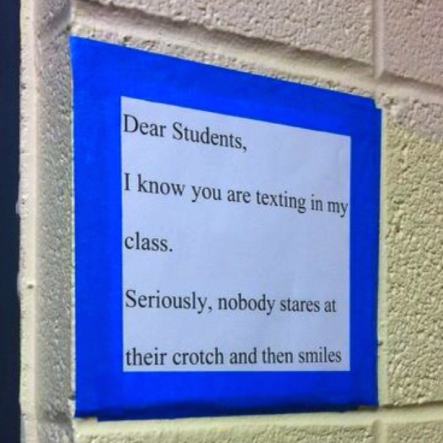 Posted in a high school classroom. @Jenn L Milsaps L Milsaps L M @Katherine Adams Adams Adams Adams Adams Miles @LaToya Irby Irby Irby Irby Irby Wiley LOVE this! haha