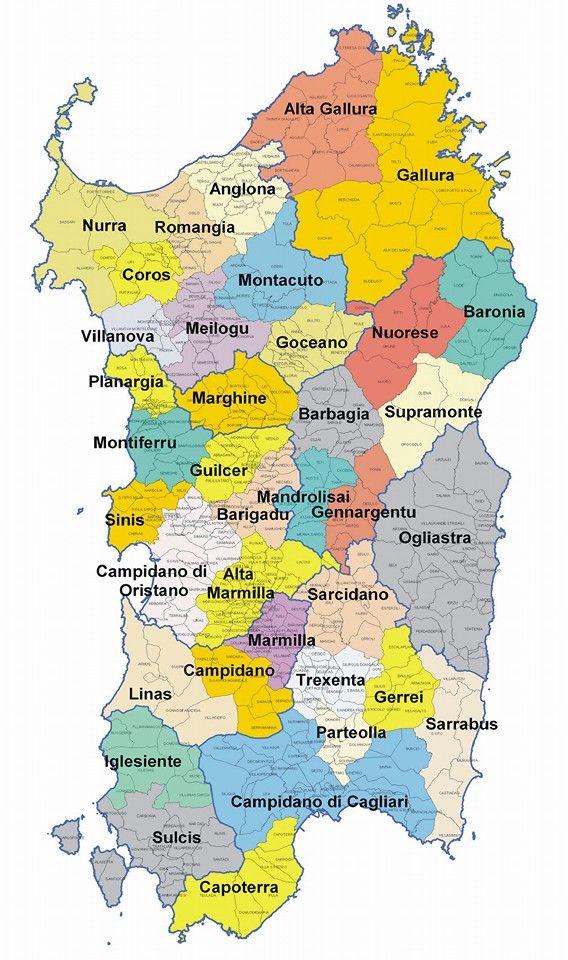 Un altra carta della #Sardegna  Sardinia - Local Area