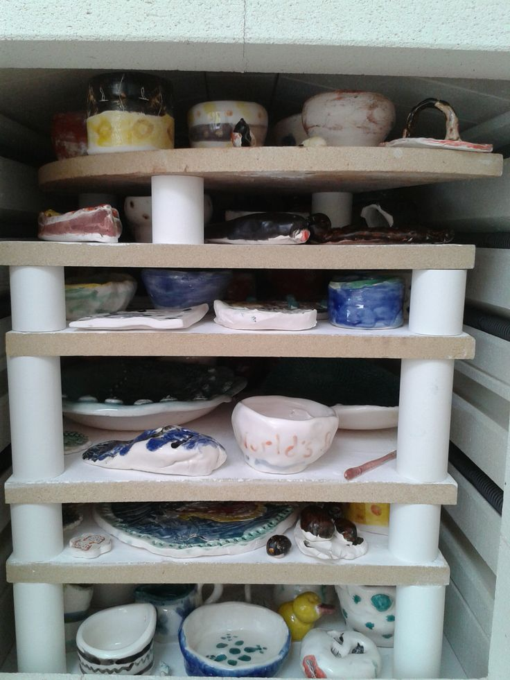 first glance into the kiln (glaze firing 13.06.14)