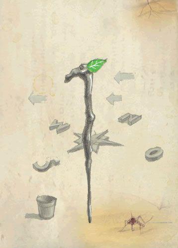 Die Druidenstäbe Bis zu 400 Jahre - ca. 85 cm - zeigen den Weg  Sie sind aus magischen Holunderwurzelholz gefertigt, worauf sich besonders die älteren Stäbe so einiges einbilden. Auf Grund ihrer vielen Reisen kennen sie fast jeden Weg und führen Dich sicher zu Deinem Ziel, zumindest sofern Du ihnen mit ausgesuchter Höflichkeit begegnest. Ansonsten können sie sich auch sehr wortkarg zeigen.