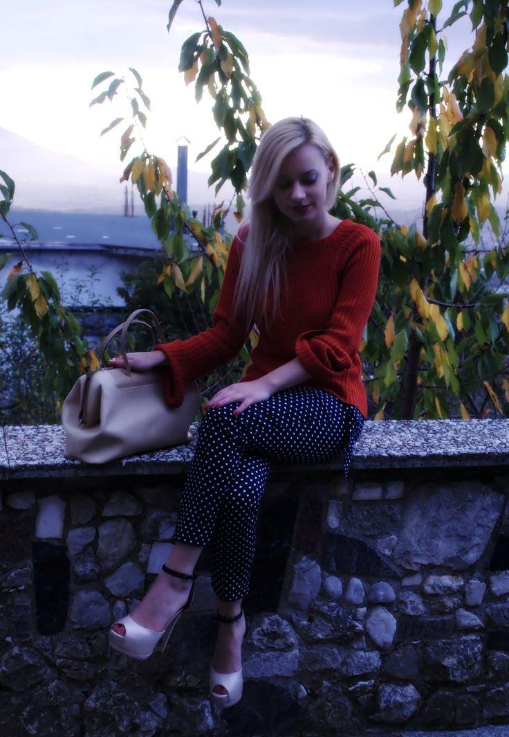 Crepuscolo,outfit maglione,Teresa Morone fashion blogger,theFashiondiet fashion blog,pois,