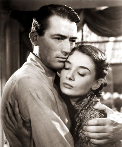 Gregory Peck & Audrey Hepburn Roman Holiday If you have never seen it, you should :)