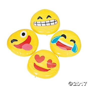Inflatable Emoji Pool Floats - 4pk Party Supplies Canada - Open A Party