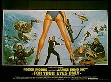 For Your Eyes Only (1981) is the twelfth spy film in the James Bond series, and the fifth to star Roger Moore as the fictional MI6 agent James Bond.