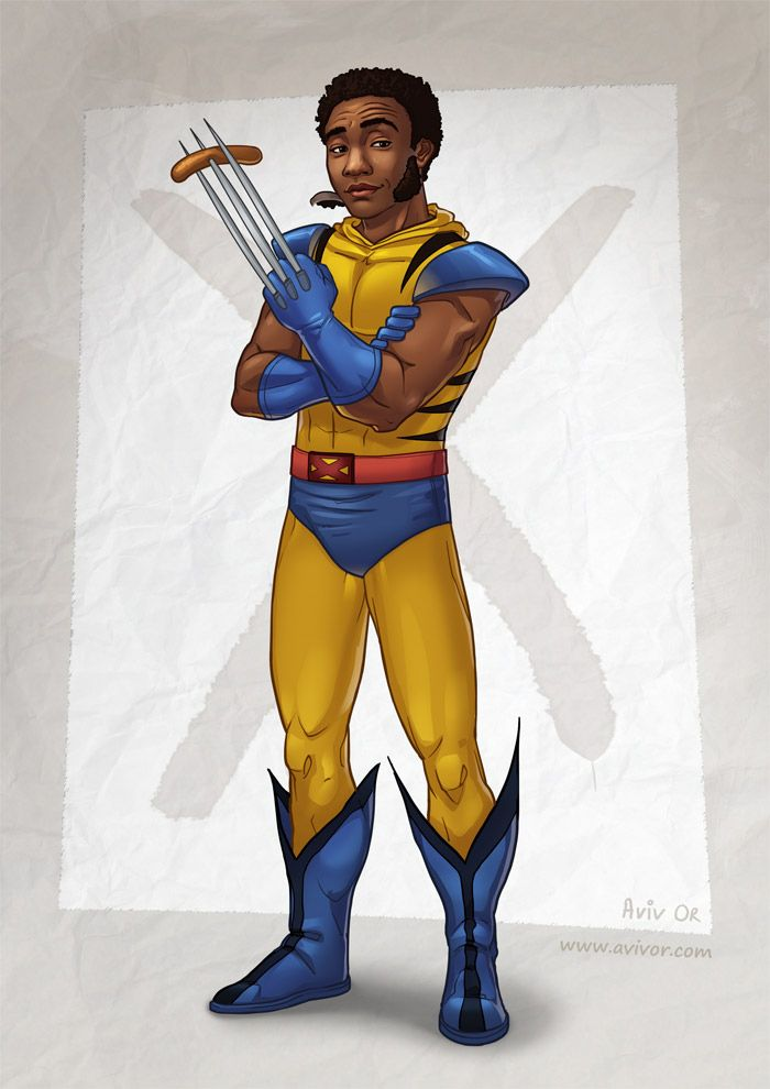 Community's Troy as Wolverine. Epic.