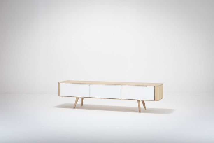 "Low sideboard ""Ena"" made of oak wood by Salih Teskeredzic for Gazzda"