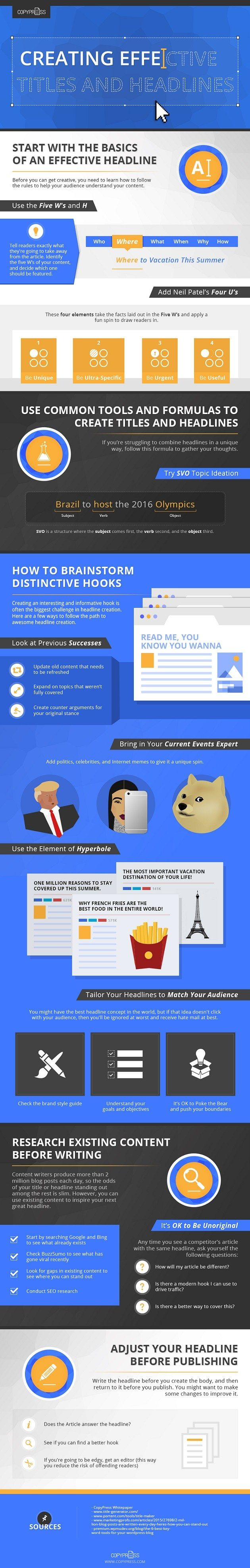 Writing - How to Create Eye-Catching and Effective Headlines [Infographic] : MarketingProfs Article