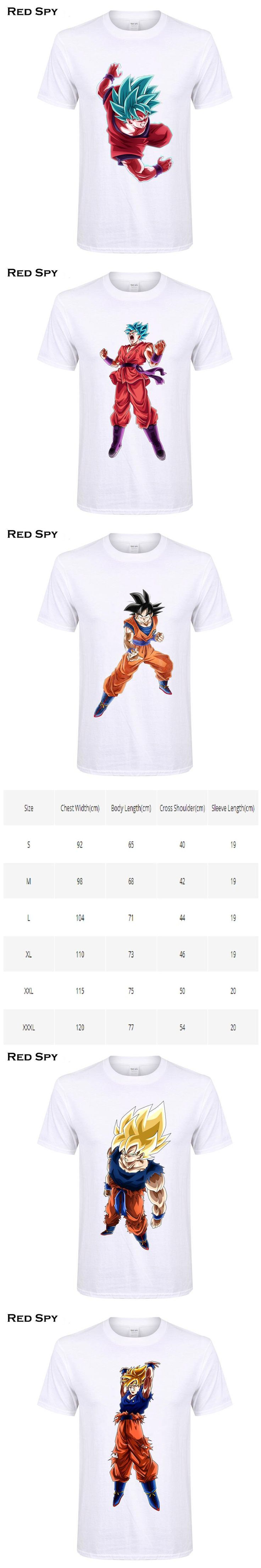 RED SPY Summer Cotton T shirt Men Raditz Majin Buu Frieza Son Goku Print Tops Tees Dragon Ball t shirts Dragon Ball Z T-shirt