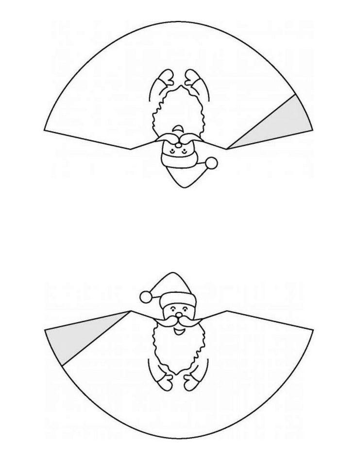 papa Noel para imprimir y colorear en navidad