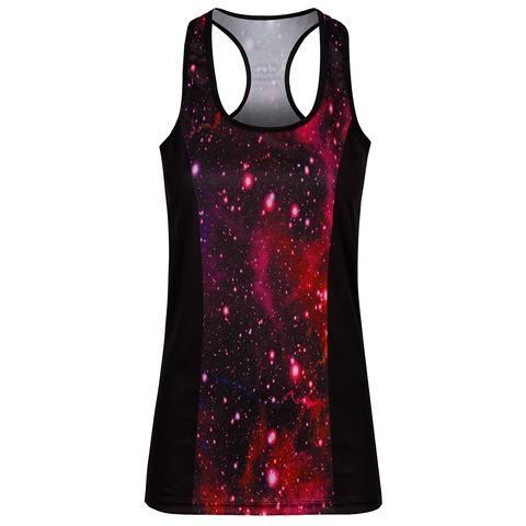 Nebula Vest Top #Activewear #Gymwear #FitnessLeggings #Leggings #Tikiboo #RainbowPrint #Running #Yoga