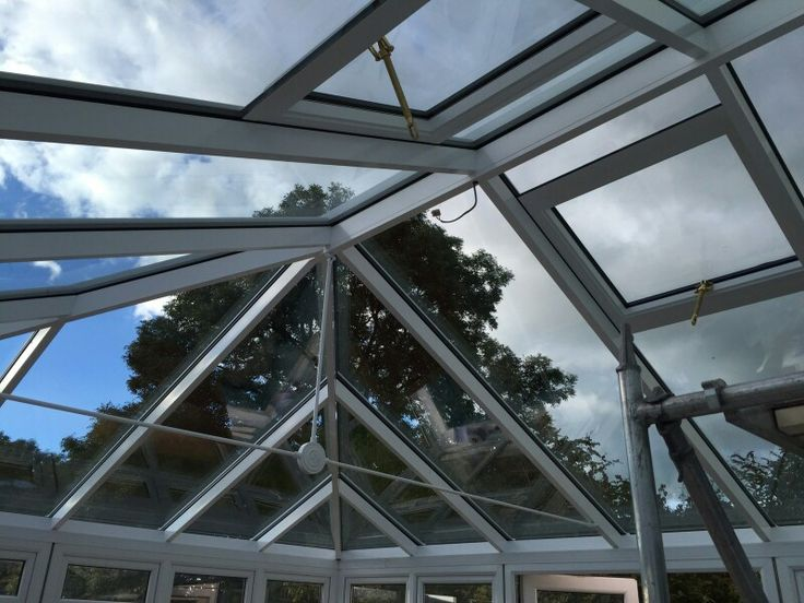 Replacement conservatory roof glazed and watertight. .. finishing touches tomorrow  #conservatory #roof #glazed #glass #outdoors #livingspaces #living