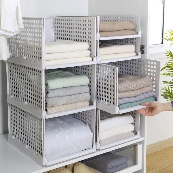 Creative Kitchen Bedroom Foldable Multilayer Shelves In 2020 Storage Closet Shelving Drawer Bins Shelves