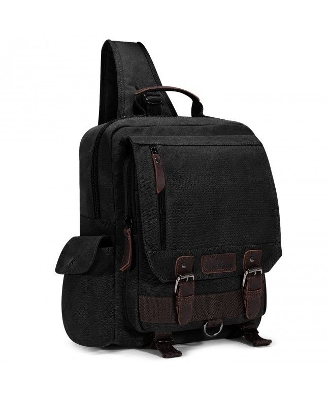Canvas Sling Backpack One Strap Travel