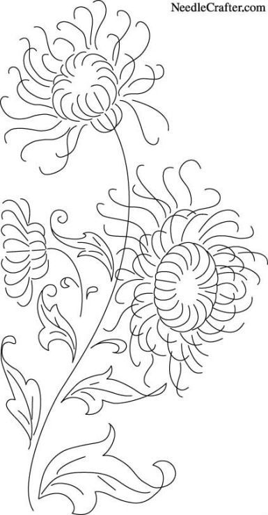Embroidery Pattern Image Only  from NeedleCrafter.com. jwt