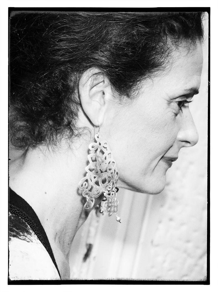 Bouvier Terzo earrings on Rozy Dorizas www.bouvier.com.au