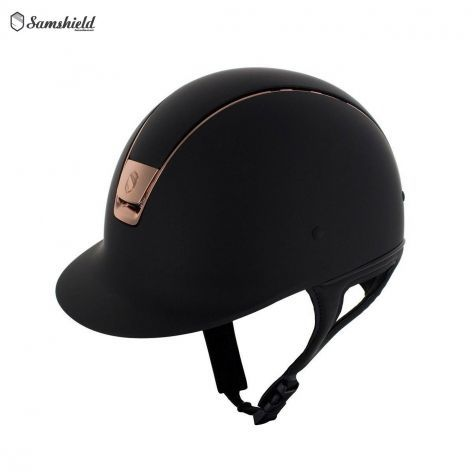 Shadowmatt Riding Hat with Rose Gold Trim By Samshield