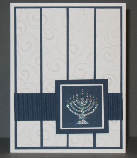 Hanukkah card for Bobbe by Quiltnstamper at Splitcoaststampers.com