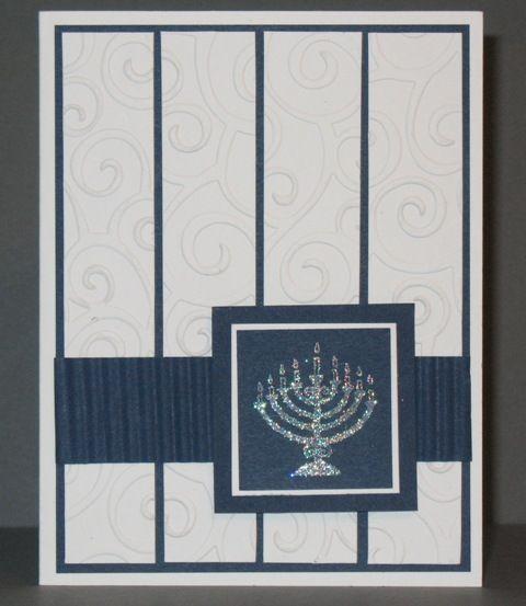 Hanukkah card for Bobbe by Quiltnstamper at Splitcoaststampers.com