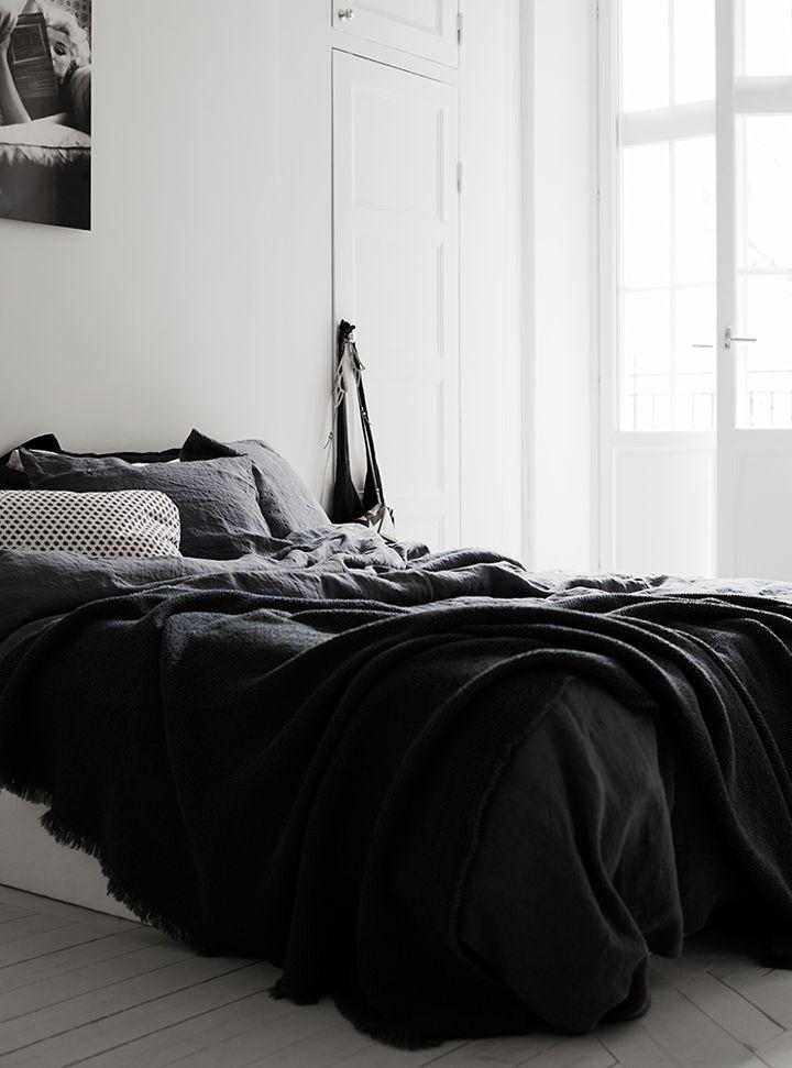 black cozy bedroom