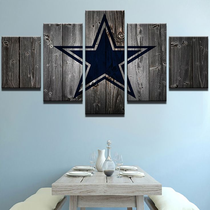 Dallas Cowboys Football Canvas Barnwood Style