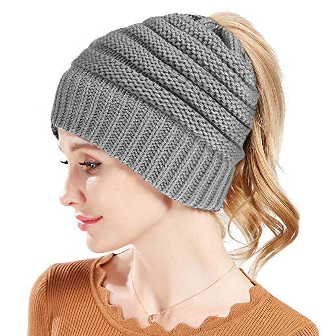 9405e5b09f5 Rosoz Winter Ponytail Beanie for Women