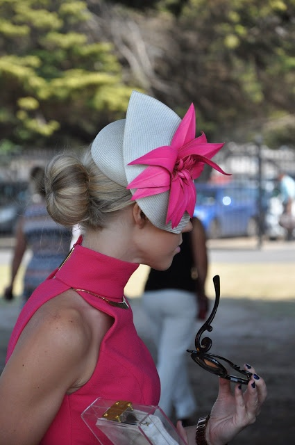 Traditionally fascinators are worn on the right side of your head but to create visual balance ensure it is worn on the side your head where your hair is parted and least hair. www.stylestaples.com.au