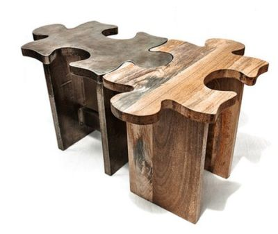 unique wooden coffee table or stool - jigsaw puzzle | stools, wood